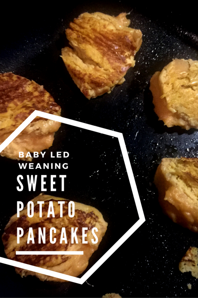 A simple and delicious recipe using sweet potato or yams to create pancakes suitable for baby Led Weaning from six months onwards