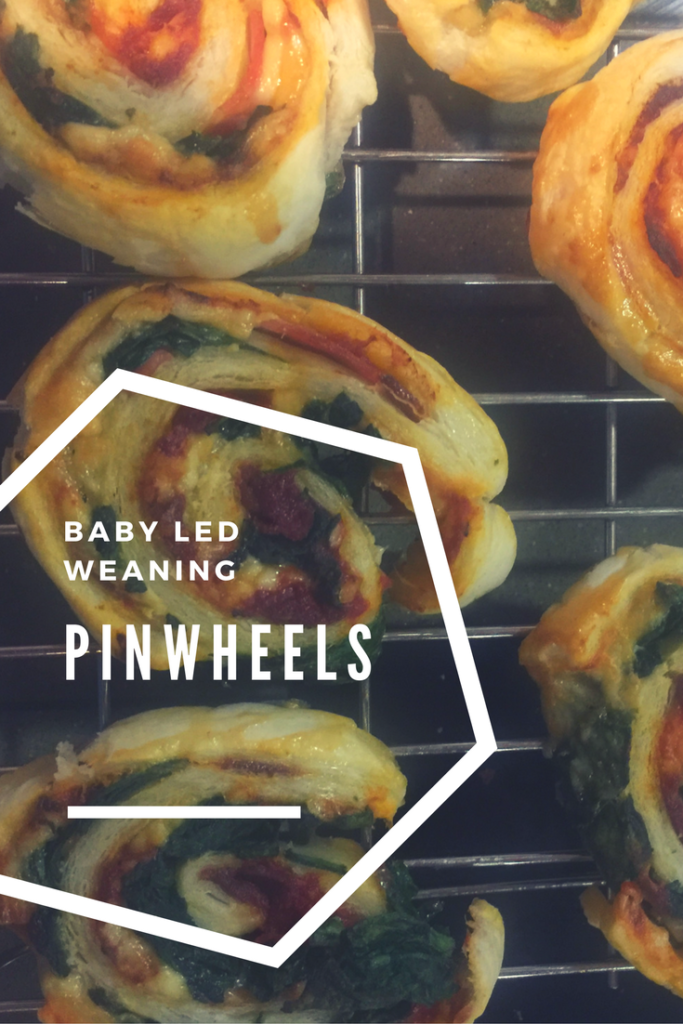 baby led weaning pinwheels, the perfect finger food for babies