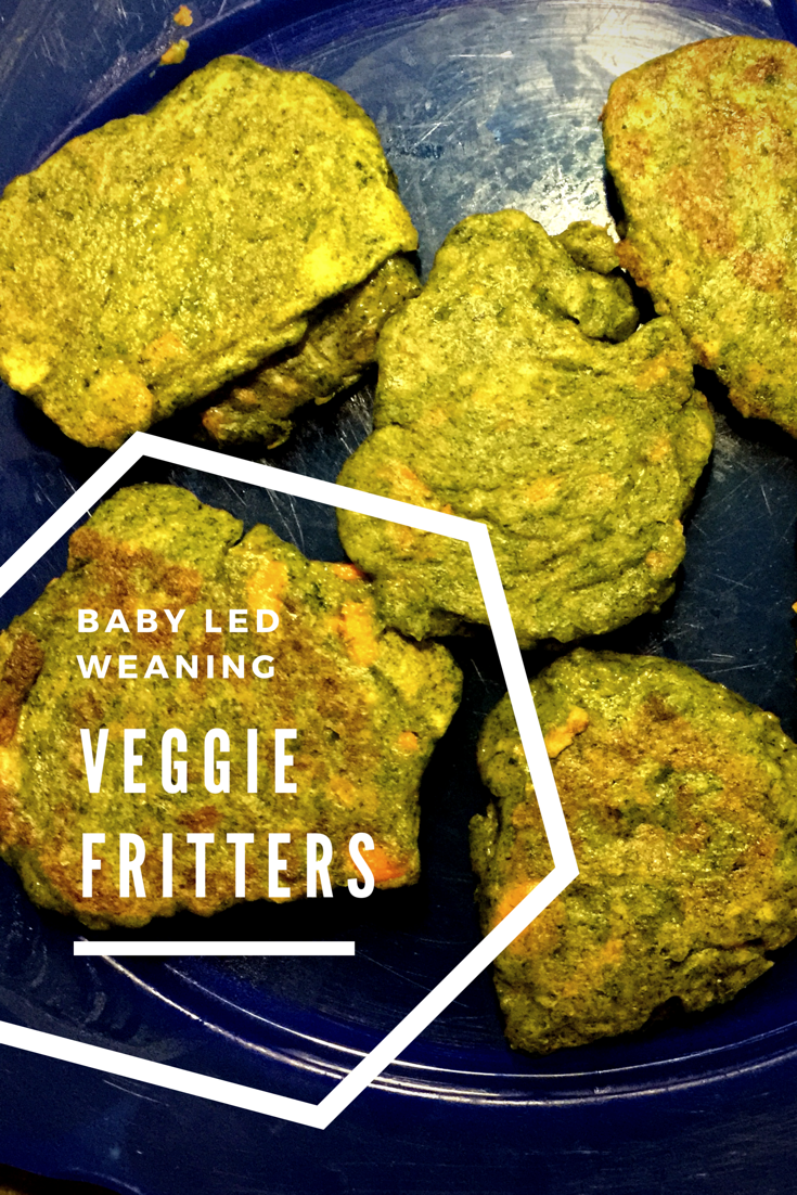 Baby Led Weaning Recipe:  Spinach, Carrot and Asparagus Fritters