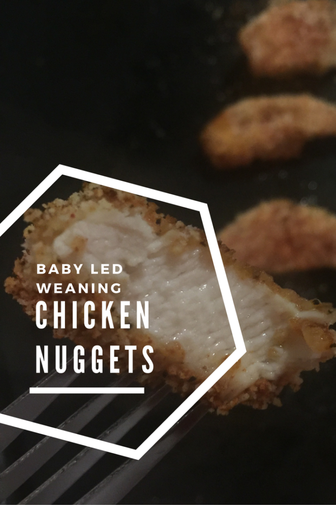 Easy to follow recipe for baby led weaning chicken nuggets, using ingredients you will find in your store cupboard, a healthy alternative to freezer food