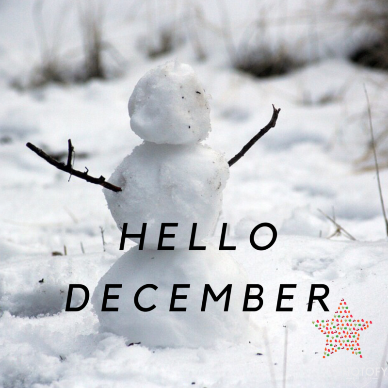 December // What I am Most Looking Forward to.