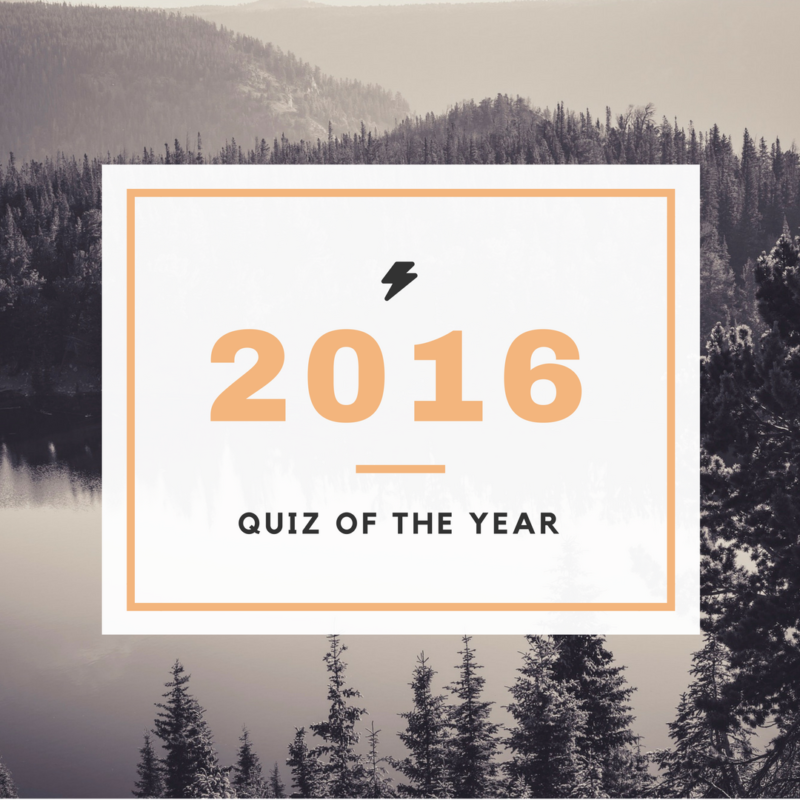 2016: Quiz of the Year