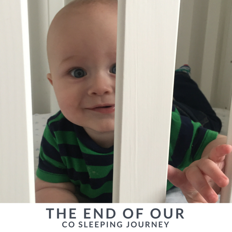 The End of our Co-sleeping Journey