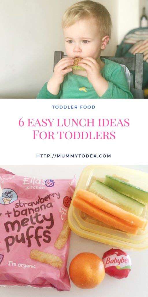 A list of easy lunch ideas for toddlers for busy moms, dads and caregivers who want to give healthy and nutritious food but who are short on time.