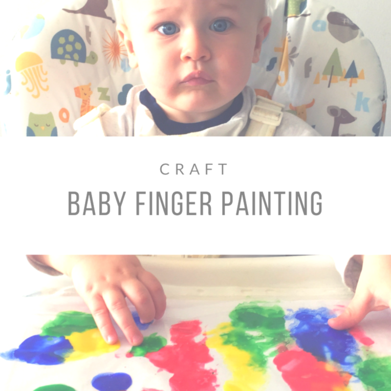 Crafts: Baby Finger Painting