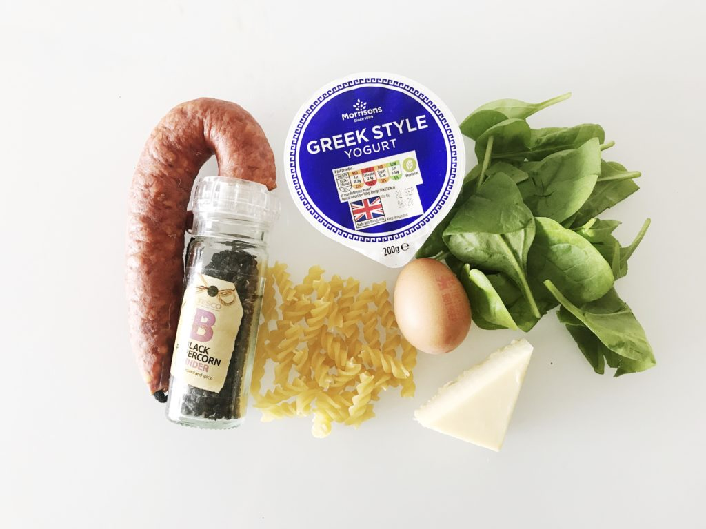 ingredients needed for the toddler carbonara