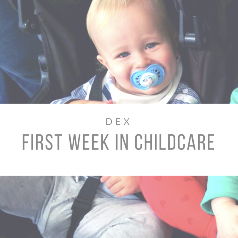 What I Learnt From Dexter's First Week in Childcare