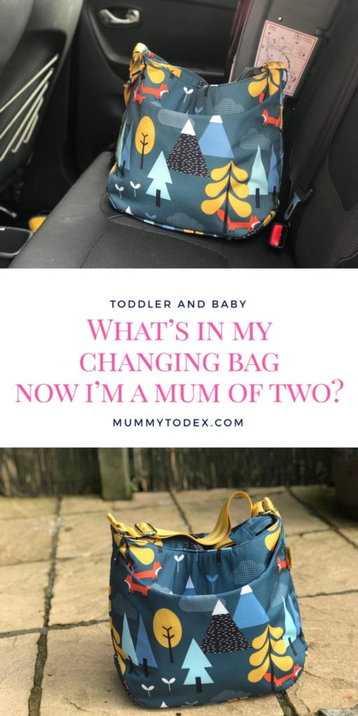 What is in my changing bag now that I am a Mum of two, to both a toddler and a newborn baby? Here I list all the essentials items needed for my changing bag