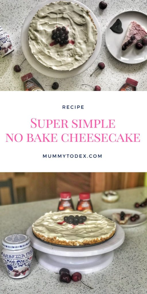 A yummy, delicious no bake cheesecake that's sugar free and super simple to prepare, taking only ten minutes of preparation. Perfect decadent dessert for toddlers and adults.