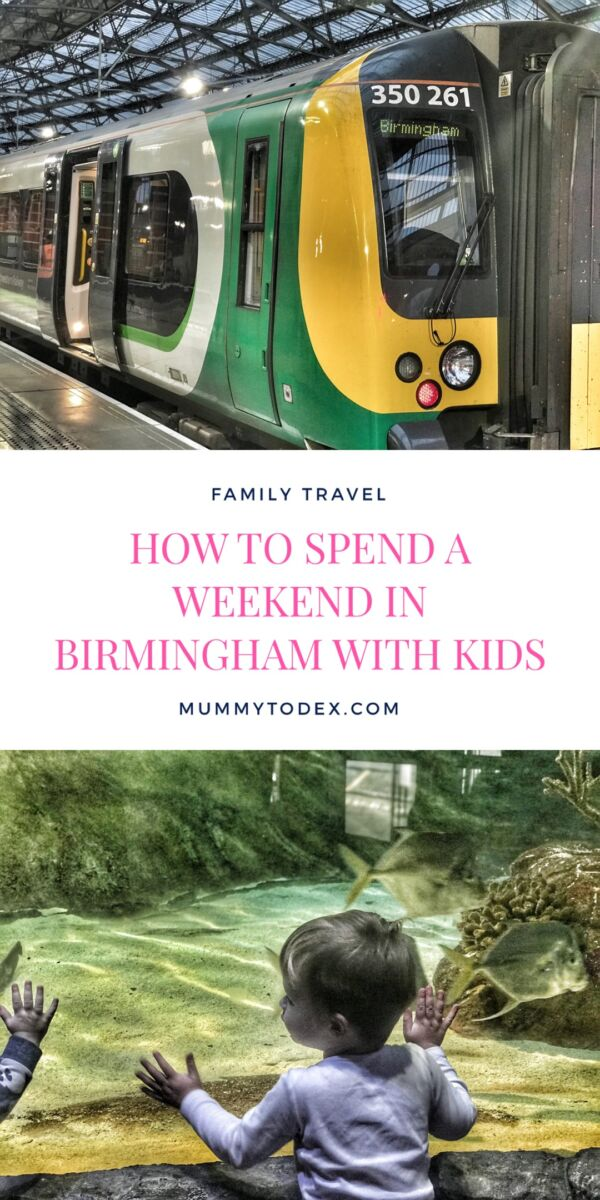 Ideas for spending a weekend in Birmingham with the kids. There are so many family activities and attractions in Birmingham including SEA LIFE Centre, Thinktank Museum and Cadbury World. Family travel and family days out ideas in the West Midlands
