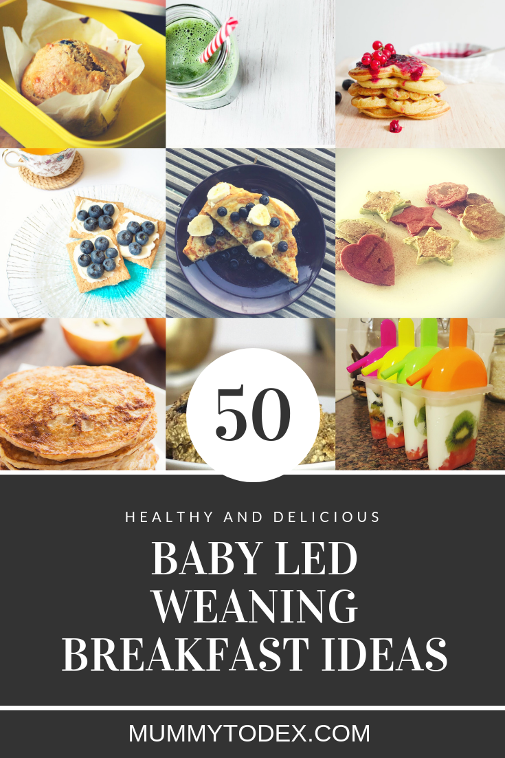 Looking for baby led weaning breakfast ideas and recipes? Then look no further than this ultimate guide to BLW breakfasts. From muffins to toast toppings to waffles and oat bites; this comprehensive list will keep your baby full with delicious and healthy food. #blw #babyledweaning #weaning