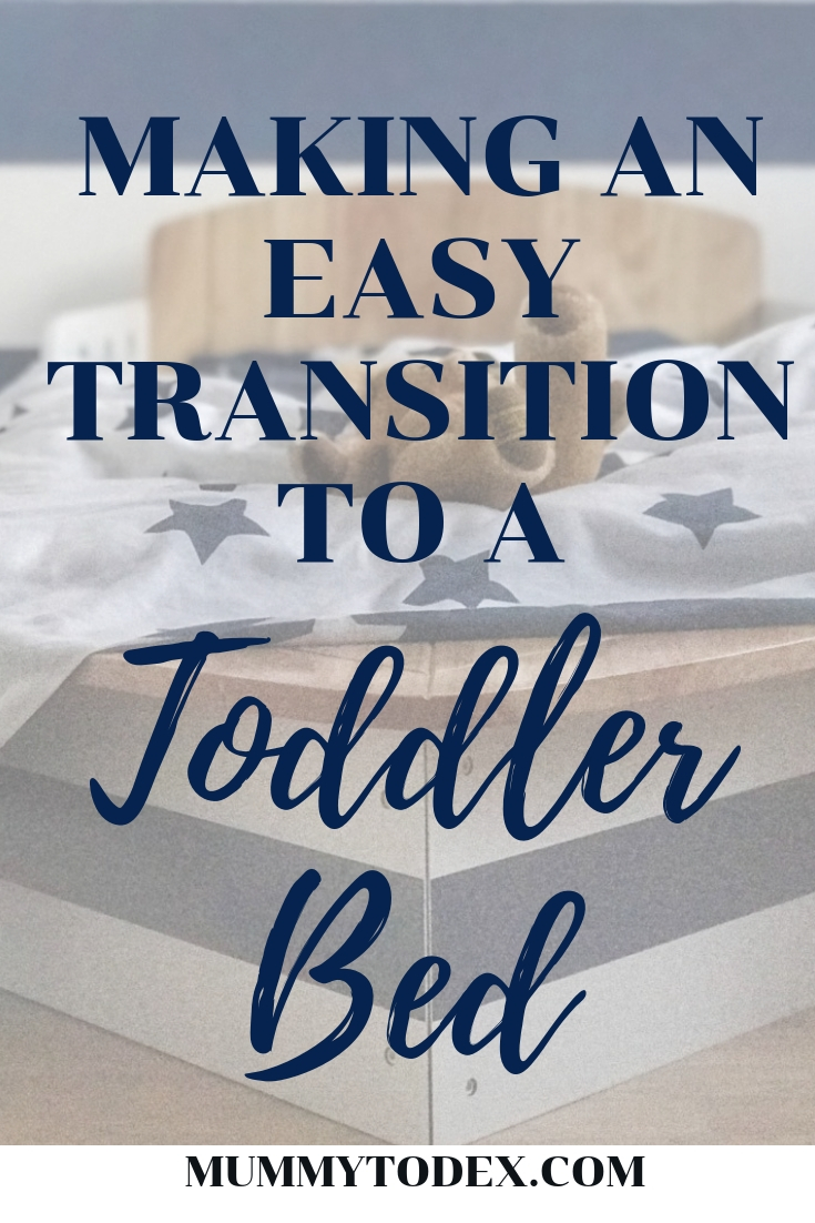 transitioning to a toddler bed pinterest image