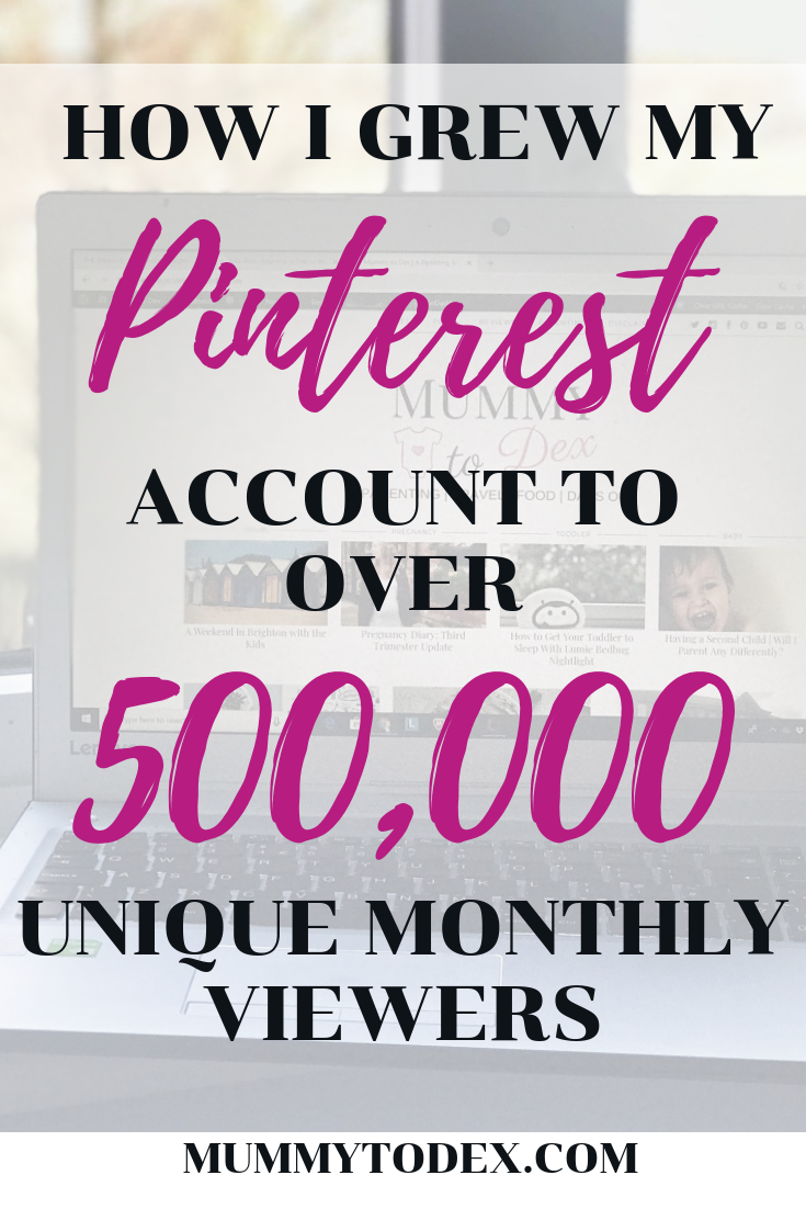 How I grew my Pinterest monthly viewers to 500,000 with around 400 click throughs every single day. Looking to grow Pinterest and grow referrals to your blog? Follow these tips and with very little effort you can be doing the same!