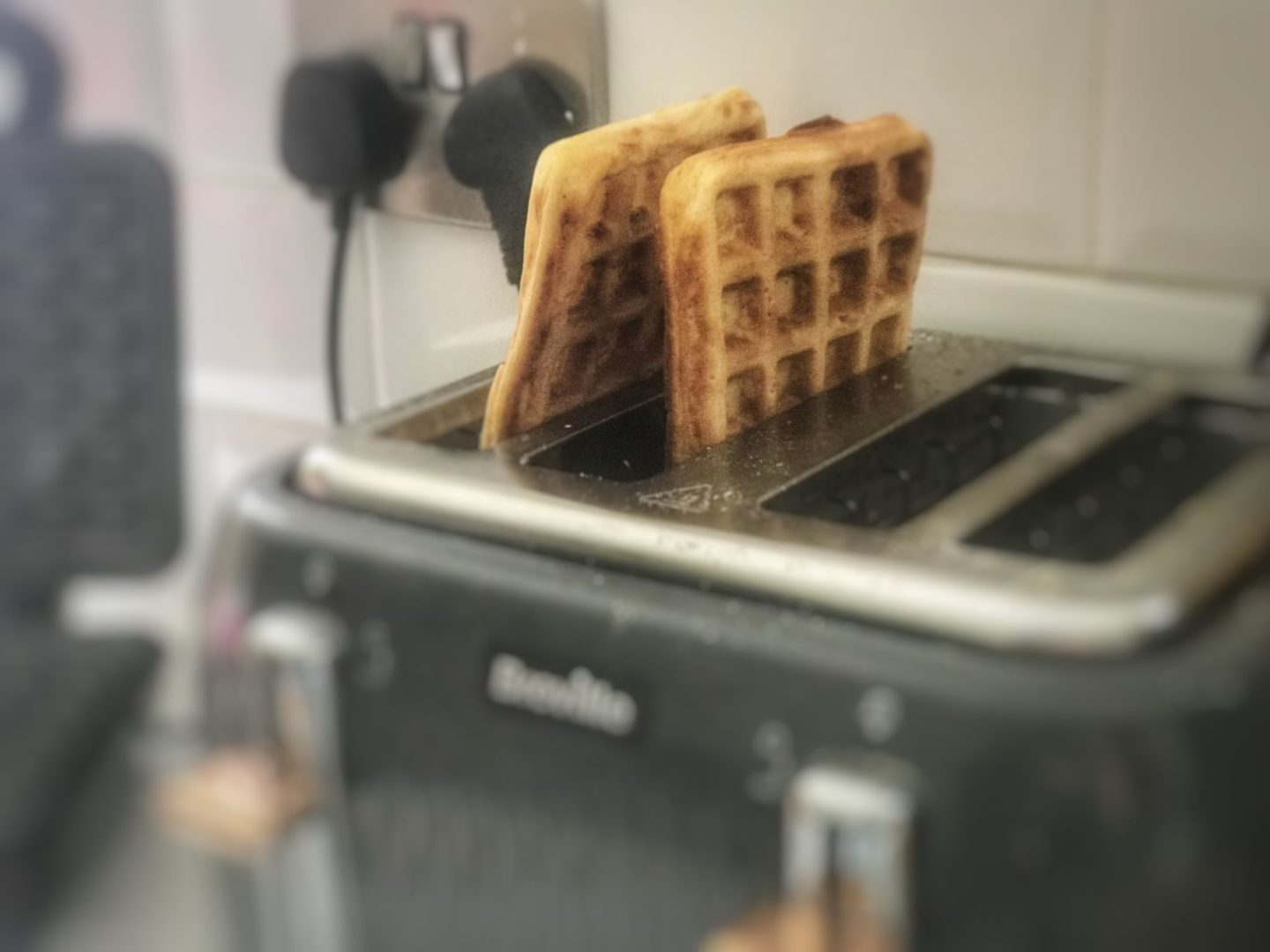 baby led weaning Sweet potato waffles in the toaster