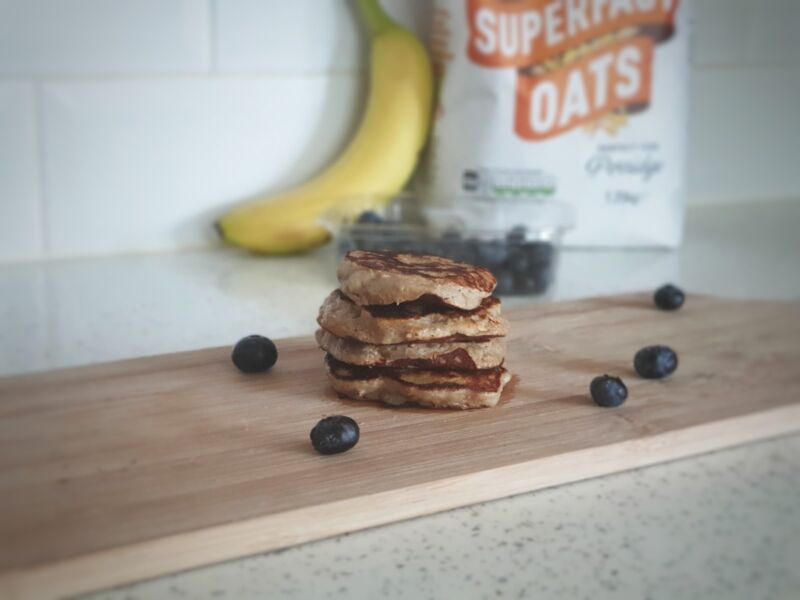 banana and oat pancakes for babies