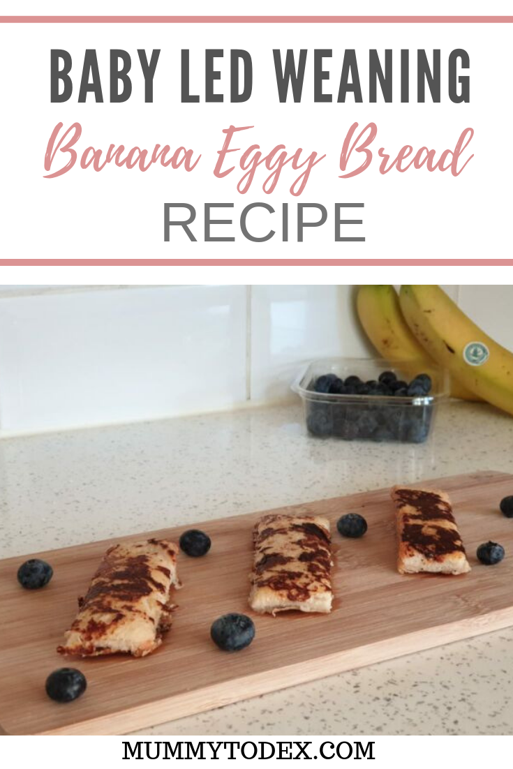 A simple recipe to create the perfect baby led weaning breakfast food - banana eggy bread for babies. This baby led weaning recipe is easy to follow and creates a yummy family breakfast, everyone can share. #blw #babyledweaning #weaningideas #blwfingerfoods