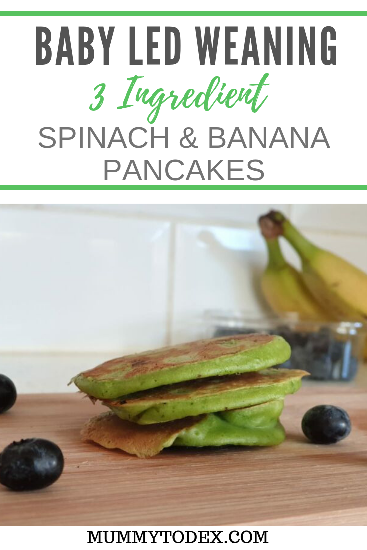 A simple recipe using 3 ingredients to create baby led weaning pancakes perfect for tiny hands. This baby led weaning pancake recipe is the perfect breakfast food but also great for baby led weaning snacks on the go. #blwrecipes #babyledweaningrecipes #blw #wenaingideas