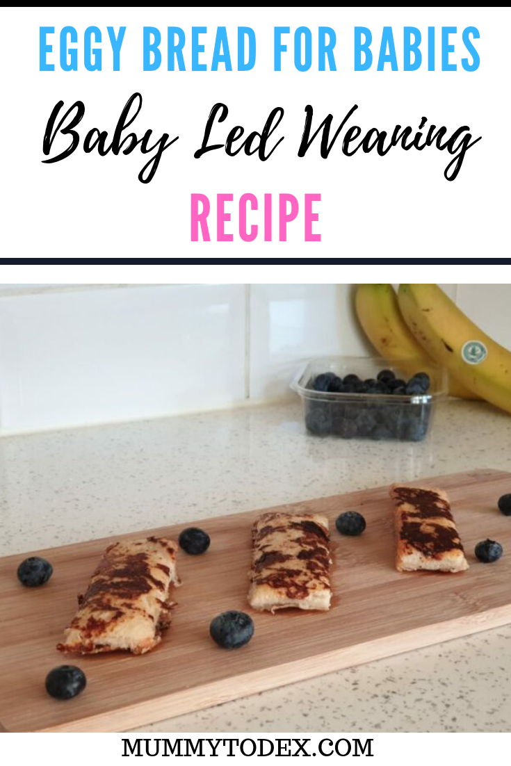 A simple recipe for basic eggy bread for babies or baby french toast. A delicious baby led weaning breakfast idea that's suitable for the whole family using very few ingredients. #blw #babyledweaning #blwideas #babyledweaningrecipes #fingerfood