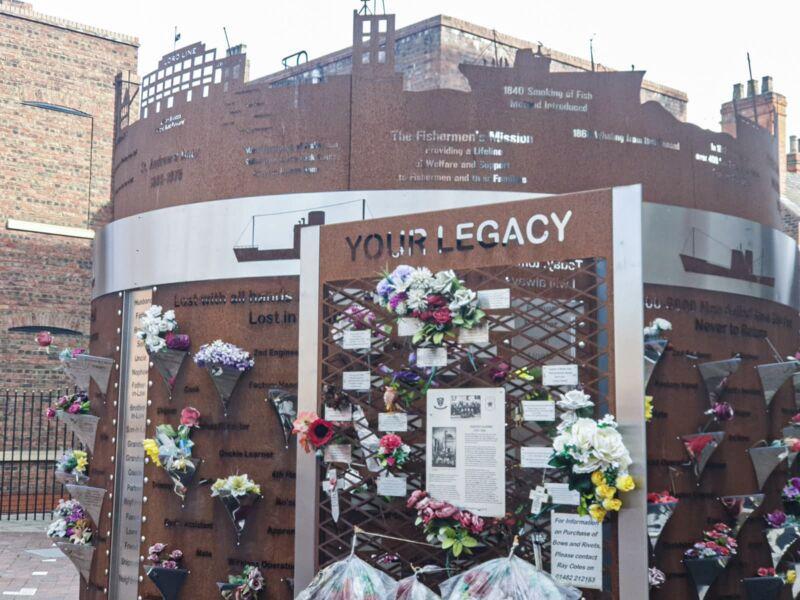 The Last Trip memorial in Zebedees square
