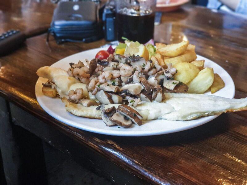 Haddock breton in Lion and key pub