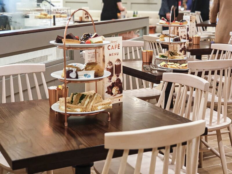 The afternoon tea available in Thornton's new store in Liverpool One