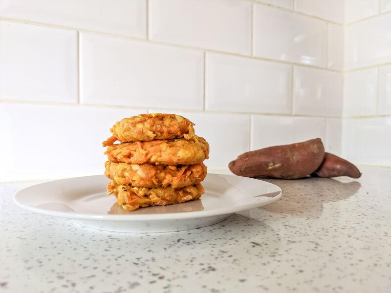 Sweet potato hash brown potato cakes