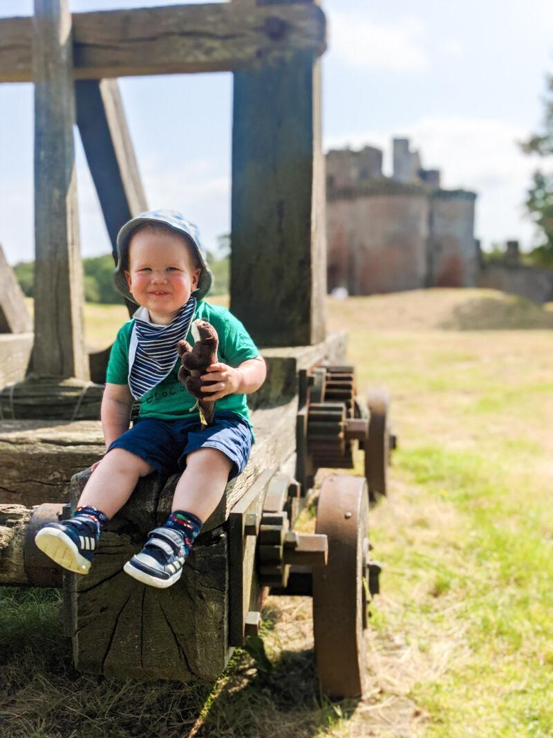 Felix at Caerlaverock castle during leap 10
