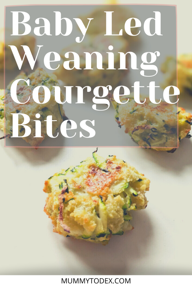 Try these delicious courgette bites for babies. This baby led weaning courgette recipe is the ideal snack or baby led weaning lunch idea for your baby. Perfect for busy moms as they can be batch made in advance and stored in the fridge or freezer. Got a spare zucchini? Check out these zucchini bites for your baby! #blw #babyledweaning
