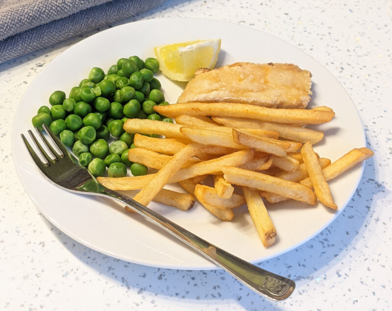 fish and chips for toddlers on a plate