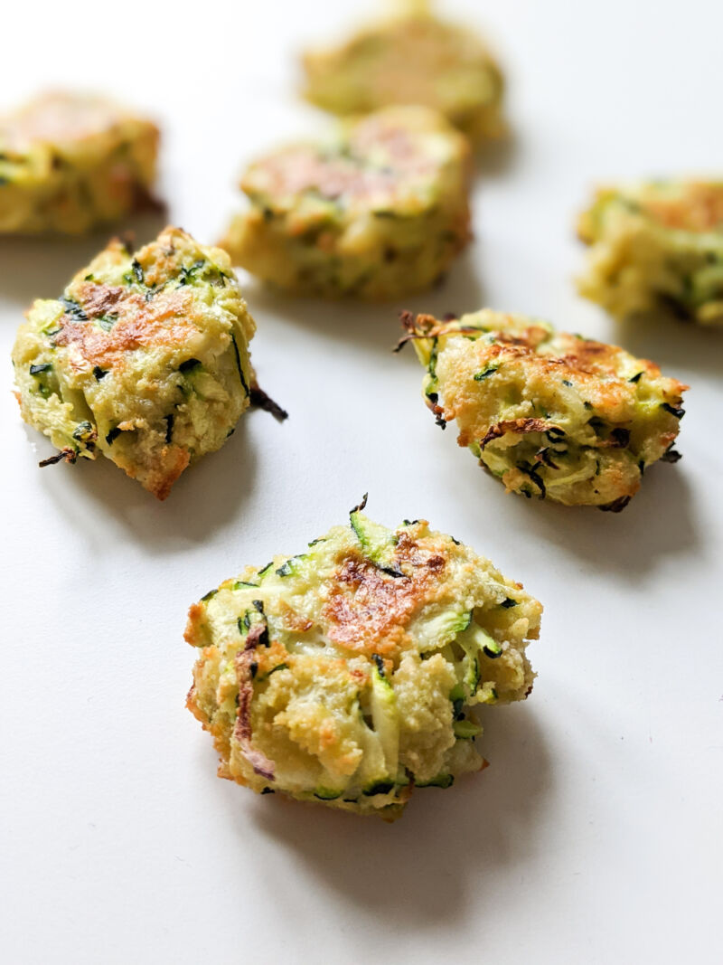 baby led weaning courgette bites once cooked