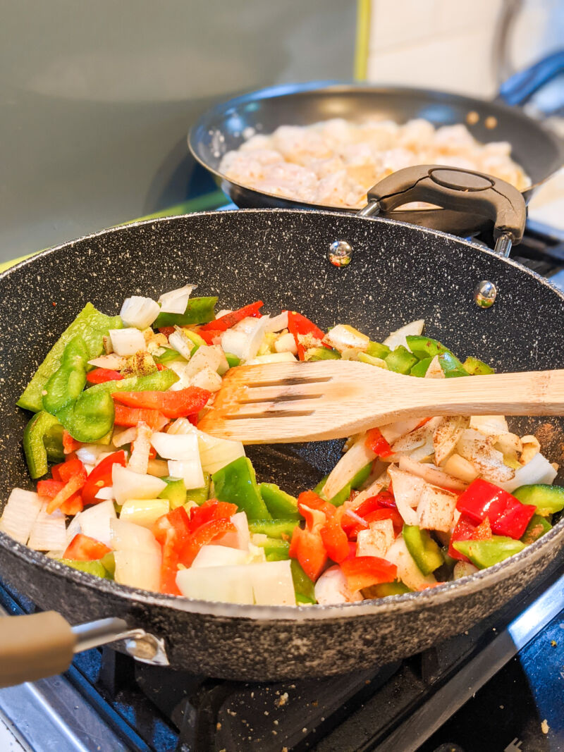 easy salt and pepper chicken recipe cooking on the hob