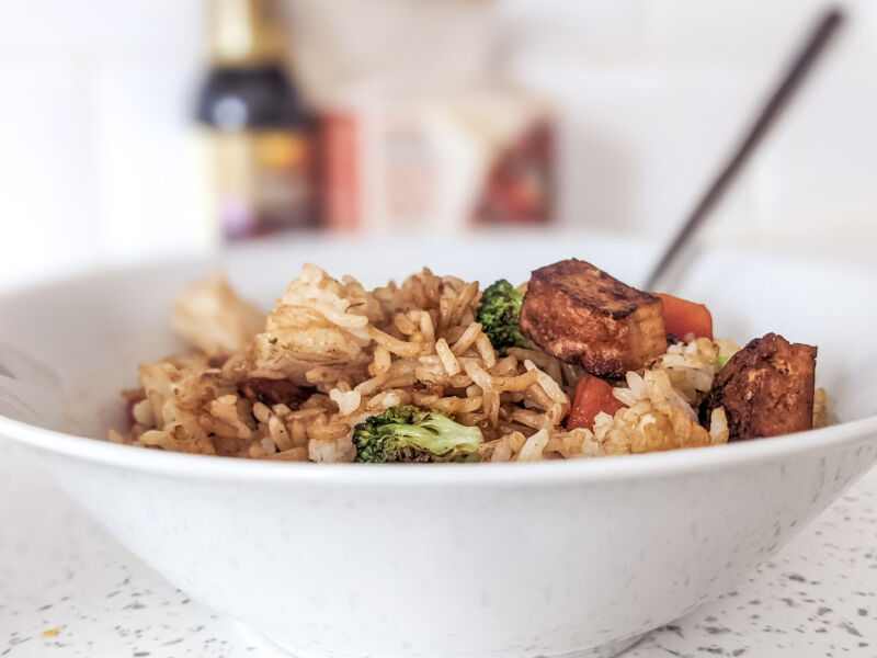 tofu fried rice for kids featured